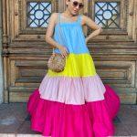 Ice-cream maxi dress